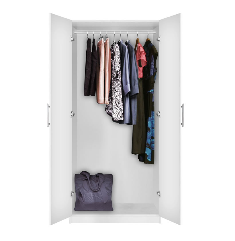 Alta Wardrobe Closet  Free Standing Wardrobe with Doors  Contempo Space