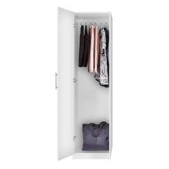 Living Room Storage Units Black Wooden Blinds Alta Narrow Wardrobe Closet - Left Opening Door | Contempo ...