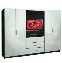 Aventa Bedroom Wall Unit - TV Unit w Drawers and Doors ...