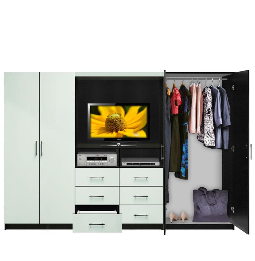 living room storage units black bobs furniture aventa tv wardrobe wall unit - free standing bedroom ...