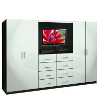 Aventa TV Wall Unit for Bedrooms - Bedroom Wall Unit 8 ...