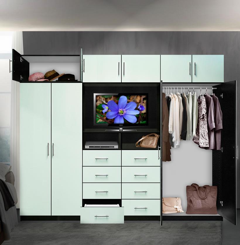 Aventa TV Wall Unit X Tall 10 Door Wall Unit For