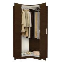 Alta Corner Wardrobe Closet - Free Standing Corner Closet ...