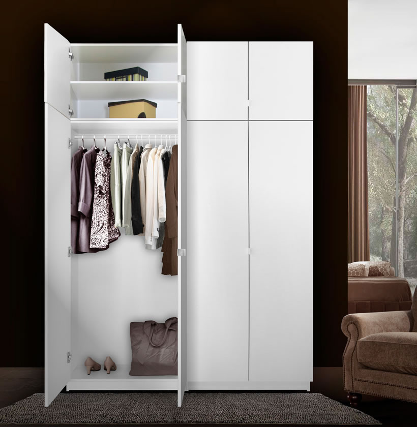 Alta Free Standing Closet  8 Door Taller Package  Contempo Space