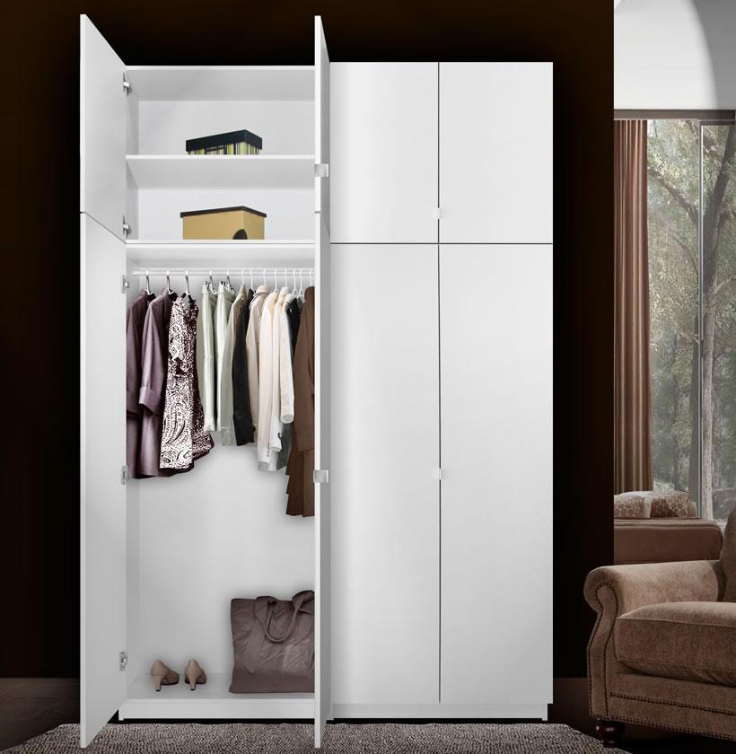 Alta 8 Door Wardrobe Closet Basic Package  Extra Tall
