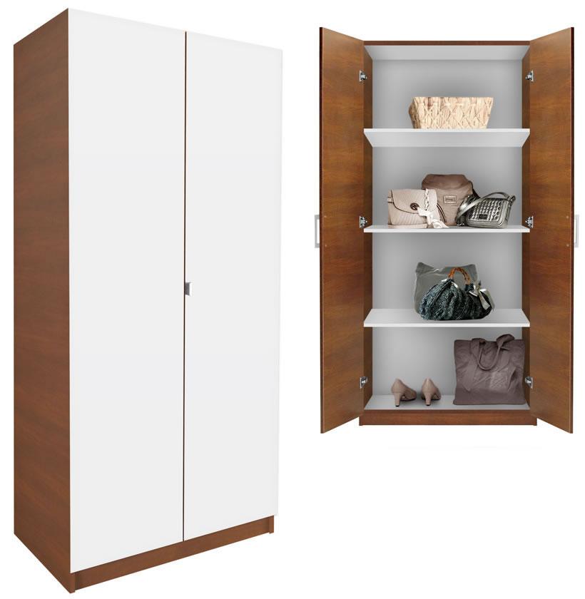 Alta Wardrobe Cabinet  3 Shelves Double Doors  Contempo
