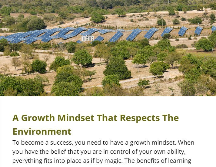 A Growth Mindset That Respects The Environment
