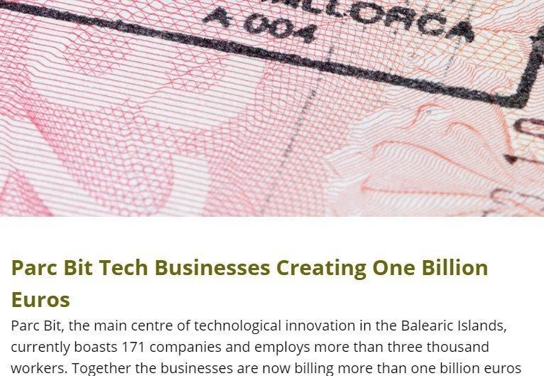 Parc Bit Tech Businesses Creating One Billion Euros
