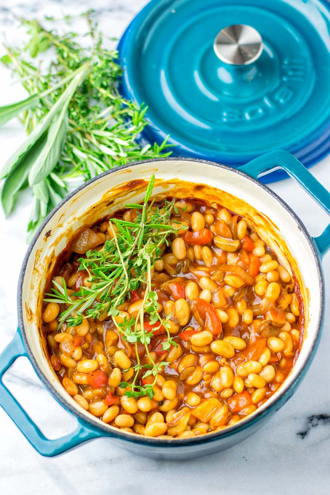 Simple ingredients are all you need for these Baked Beans.