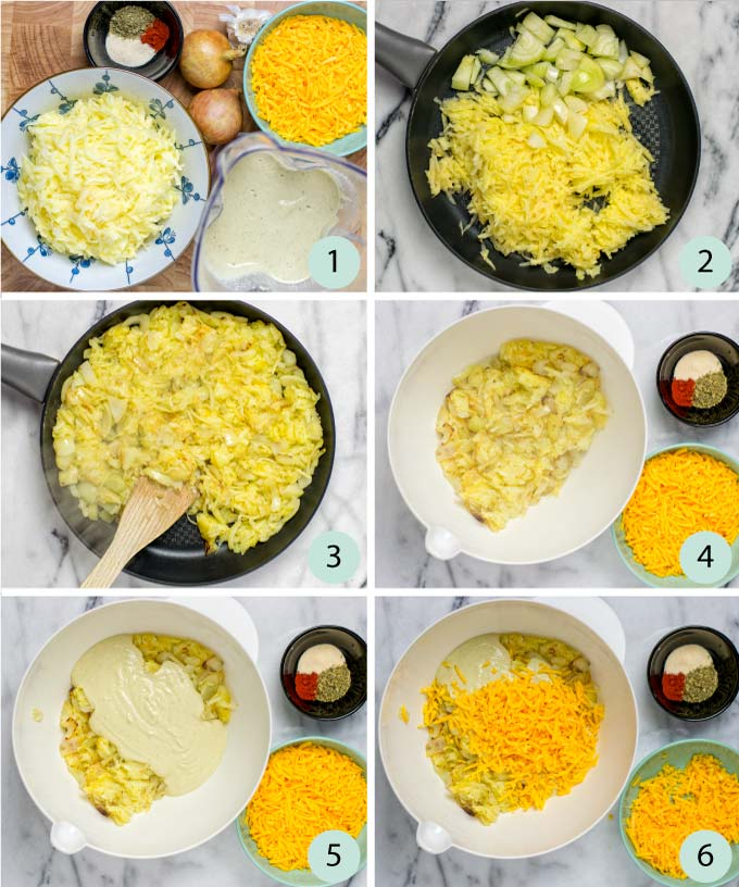 Step-by-step guide how to make this Hashbrown Casserole.