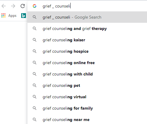 grief counseling wildcard