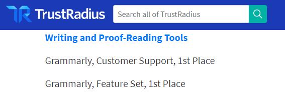 trust radius recognition of grammarly
