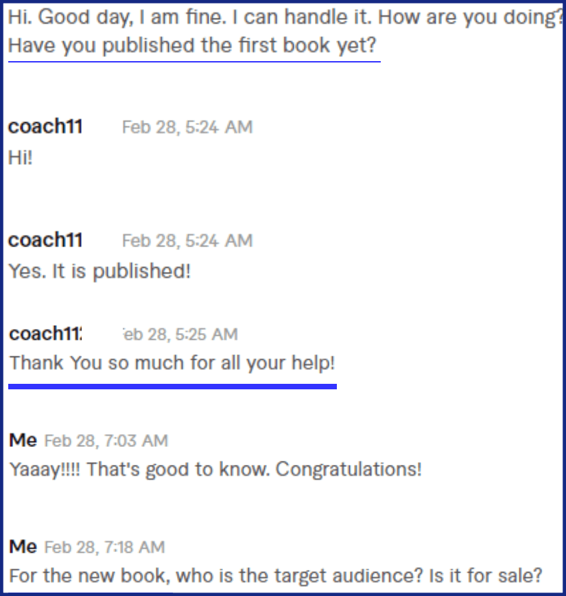 ebook ghostwriting testimonial