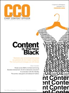 Chief Content Officer Magazine Launches in Print and Digital