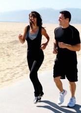 couple jog