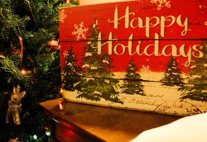 Happy holidays Christmas decoration