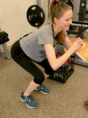 Common exercise mistakes: squats with weight in toes, knees past toes