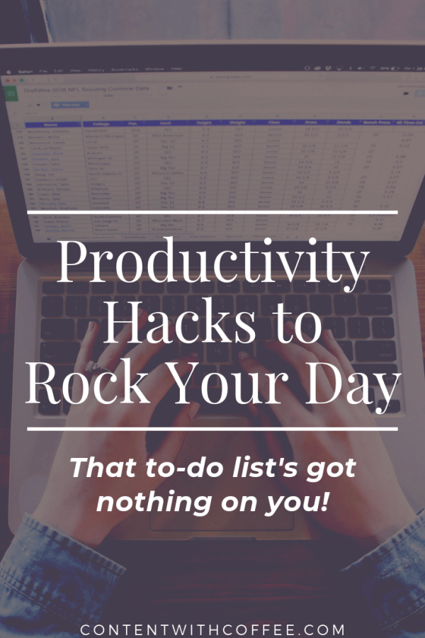 Let's get stuff done! Read this post for the best productivity hacks that'll make you into a time management wizard! #productivity #productivityhacks #productivitytips #timemanagement #adulting