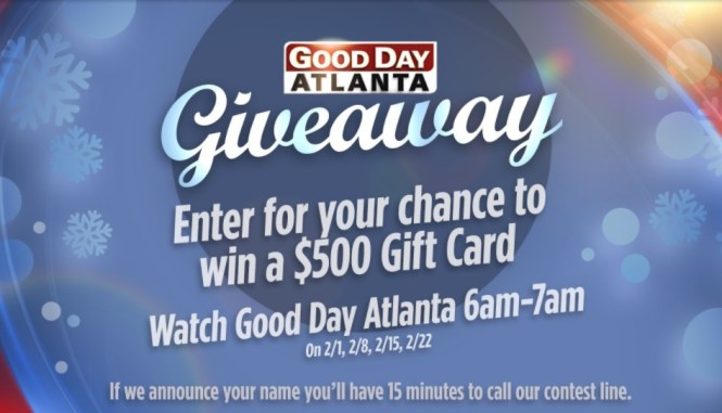 Fox5atlanta Good Day Atlanta Giveaway 2018 - Win $500 Gift Card