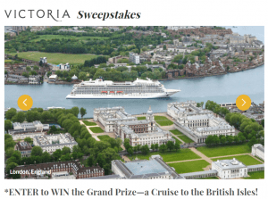 ENTER to WIN the Grand Prize - a Cruise to the British Isles