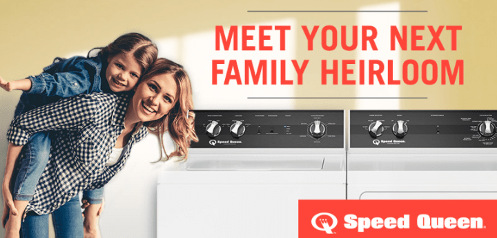 Speed Queen Home Laundry · Washer & Dryer February Giveaway Sweepstakes - Win Washing Machine and Dryer