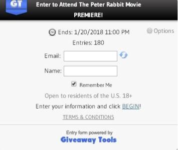 The Peter Rabbit Movie Premiere Giveaway – Stand Win Chance to Attend the Peter Rabbit Movie Premiere