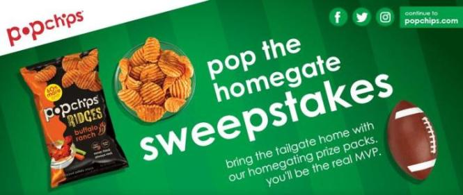 Popchips Pop A Homegate Sweepstakes – Chance to Win A Sony HD TV, An iPhone X, Sonos 3 Speakers, A $100 Grocery Gift Card and Free One Year Supply of Popchips