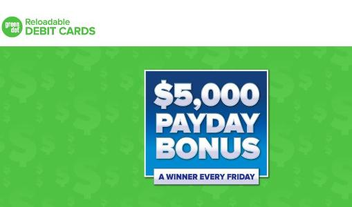The $5000 Payday Bonus Sweepstakes– Chance to Win $5,000 Cash