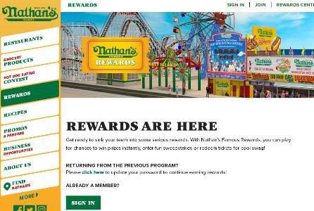 Nathan's Famous Rewards Sweepstakes – Chance to Win Amazon.com Gift Card, Yeti Cooler, Free Hot Dogs for a Year, Fan Prize Pack, Chill & Grill Prize Pack