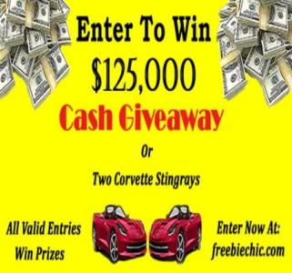 Win Two Corvette Stingrays or $125,000 in cash Giveaway – Stand Chance to Win Corvette Stingrays or $125,000 in Cash