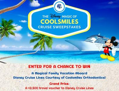 The Disney Magic Of Coolsmiles Cruise Sweepstakes - Chance To Win A Family Vacation Disney Cruise Lines Courtesy of Coolsmile Orthodontics