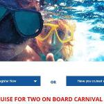 Carnival 2018 Wave Horizon Sweepstakes – Chance to Win a Cruise