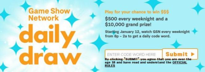 "Game Show Network ""Daily Draw"" Sweepstakes – Chance to Win Daily Prizes"