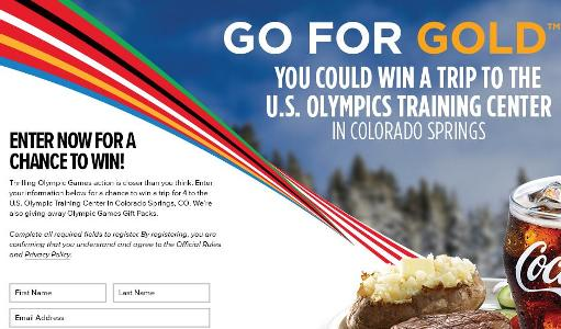 Go for the Gold with Coca-Cola at Golden Corral Sweepstakes – Chance to Win A trip package to Colorado Springs