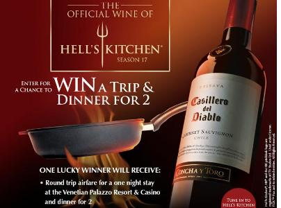Casilero Del Diablo Hell's Kitchen Session 17 Sweepstakes – Stand Chance To Win A Trip To Las Vegas