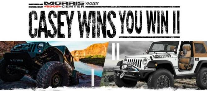 The Casey Wins, You Could Win II Promotion Sweepstakes – Stand Chance to Win Casey Currie's Fully Custom-Built Jeep JK