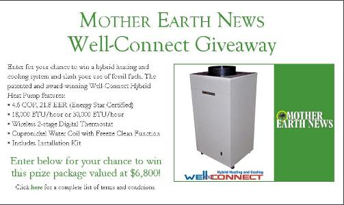 Mother Earth News Well-Connect Giveaway – Stand Chance to Win Well-Connect Hybrid Heat Pump