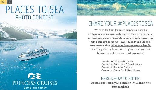 Princess Cruises Places to Sea Contest – Chance to Win one up to 7-Day Cruise