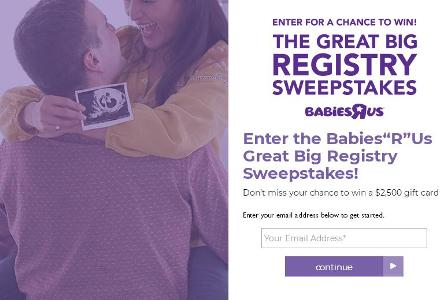 Babies R Us Registry Giveaway – Stand Chance to Win a $2,500 Babies R Us Gift Card, $2,500 American Express Gift Card