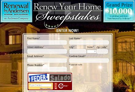 The Renew Your Home Sweepstakes – Stand Chance to Win Voucher, a Gift Certificate and Weekly Prizes