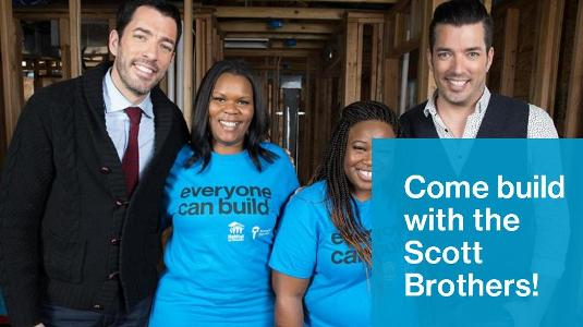 2018 Home is the Key Build with the Scott Brothers Sweepstakes – Chance to Win A Trip to the Homes is the Key build in Nashville, Tennessee