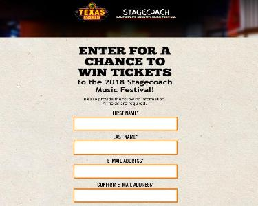 Texas Roadhouse Sweepstakes – Stand Chance To Win VIP Tickets For 2 To Stagecoach Music Festivals