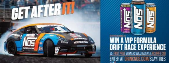 NOS Energy Drink Formula Drift Sweepstakes – Stand Chance to Win A Trip