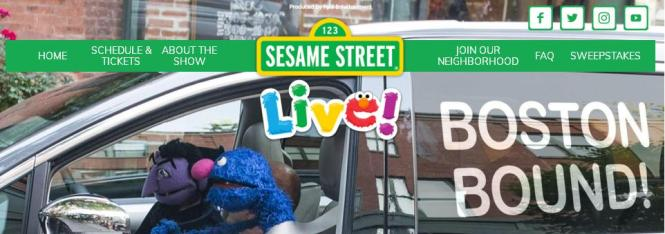 Sesame Street Live Let's Party in Boston Sweepstakes – Stand Chance to Win a Trip for 4 to Boston
