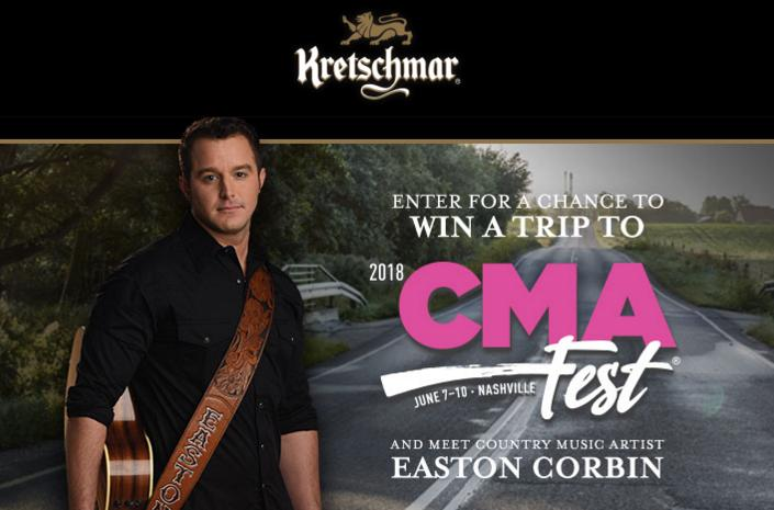 Kretschmar Country 2018 – CMA Fest Sweepstakes- Chance To Win Trip To Nashville For Two, Four Night Accommodation