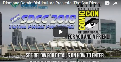 Diamond Comic Distributors Comic-Con Sweepstakes – Enter For Chance To Win A Trip With Guest To San Diego