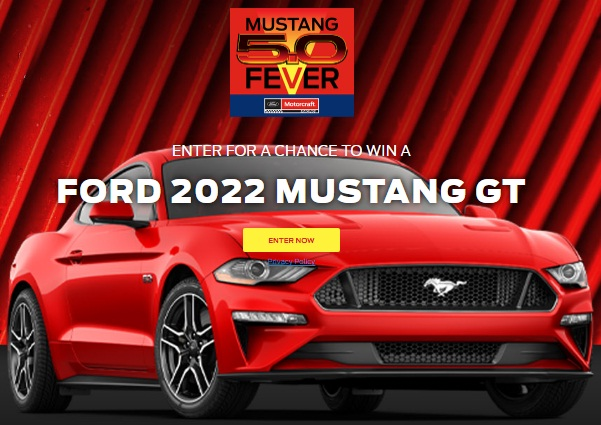 Ford Motor Company Mustang 5.0 Fever Sweepstakes