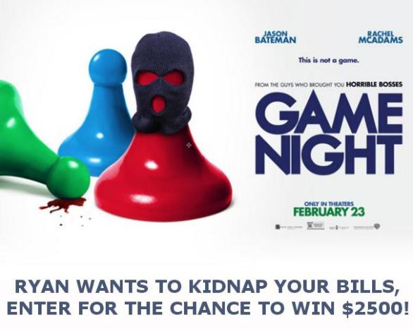 OnAir With Ryan Seacrest's Kidnap Your Bills Sweepstakes – Enter For Chance To Win $2500