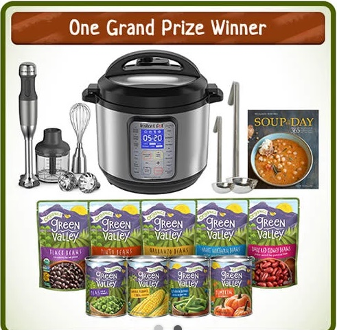 Green Valley SOUPer Fan Sweepstakes – Chance to Win Home Goods Gift Cards and Kitchen Aid Hand Blender or 365 Recipes for Every Day for Year
