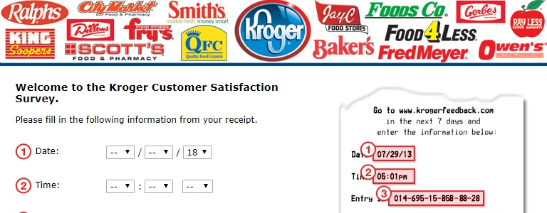Kroger Customer Survey Monthly Sweepstakes – Chance to Win$5,000 in Kroger Gift Cards